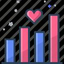 heart, heartbeat, statistic, user