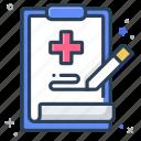 medical, prescription, record icon