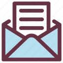 envelope, healthcare, mail, policy, report icon