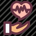 cardiogram, case, disease, health, heart icon