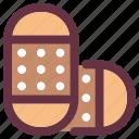 aid, bandage, bandcare, medical, plaster, treatment icon