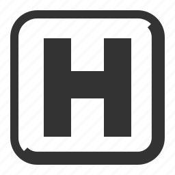 healthcare, hospital sign icon