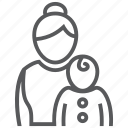 baby, care, child, infant, mom, mother, pediatrics icon