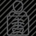 bones, human, radiology, radioscopy, ribs, skeleton, xray icon