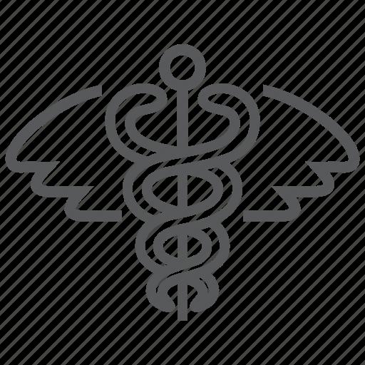 caduceus, clinic, health, healthcare, hospital, pharmacy icon