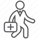 doctor, duty, emergency, healthcare, rescue, work icon