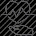 beat, disease, ecg, heart, love, prevention icon