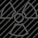 danger, radiation, radioactive, radioactivity, warning icon