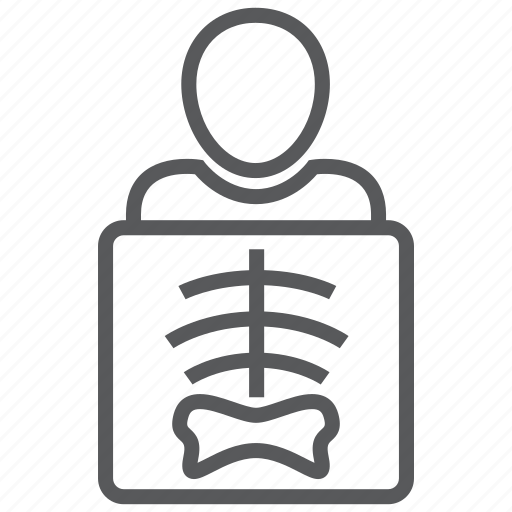 bones, radiology, ribs, skeleton, xray icon
