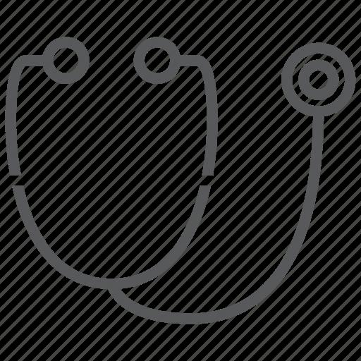 doctor, hospital, phonendoscope, stethoscope, test icon