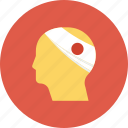 emergency, head, health, health insurance, hurt, injured, injury icon