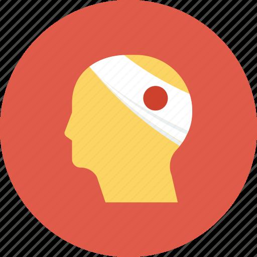 emergency, head, health, health insurance, hurt, injured, injury icon