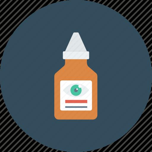 bottle, drop, eye, eye drop, medical, package icon