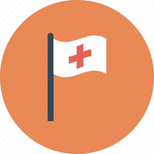 assistance, flag, medical, medical flag icon icon