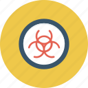 biohazard, biological, danger, hazard, hazardous, infectious, poison icon icon