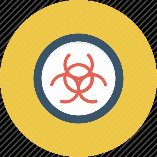 biohazard, biological, danger, hazard, hazardous, infectious, poison icon icon