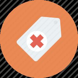 health, medical, medical tag, medicine, note, tag icon