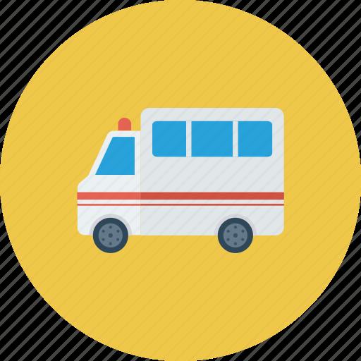 ambulance, car, cross, emergency, medical, transportation, van icon