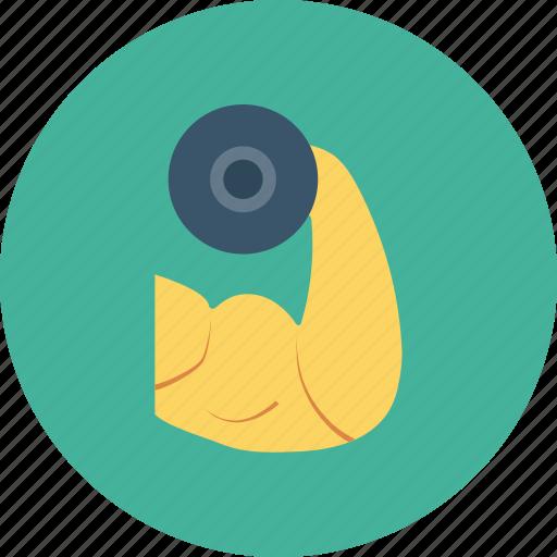 bodybuilding, exercise, fitness, gym, health, training icon icon