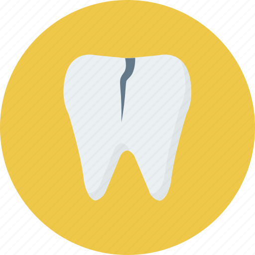 broken, chipped, damage, medical, teeth, tooth icon icon