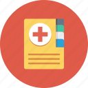 book, health, healthcare, medical, medical book icon icon