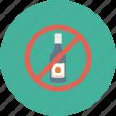 no alcohol, no wine, wine not allowed, wine prohibition, wine restriction icon icon