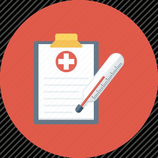 digital thermometer, fever scale, medical accessories, report, temperature, thermometer icon icon