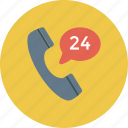 business, call, communication, customer support, phone, support 24, telephone icon icon