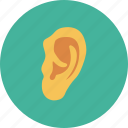 ear, human ear, listen, medical, sound icon
