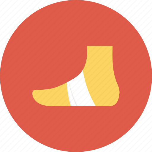 bandage, foot, injury, plaster, sprain icon icon