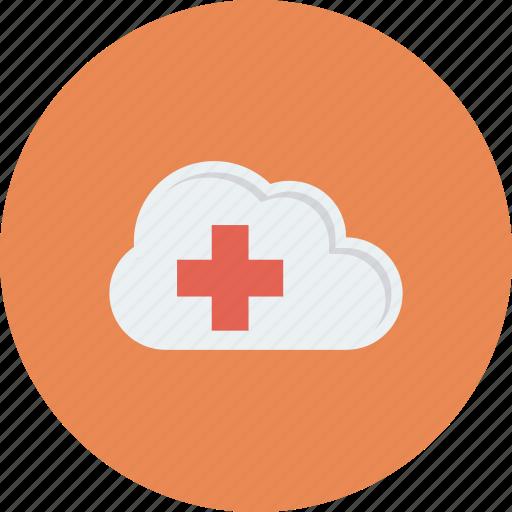 cloud, data, health, healthcare, hospital, medical, storage icon icon