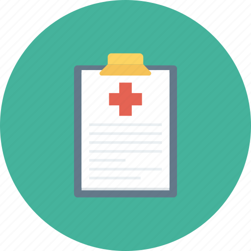 clipboard, document, hospital, medical, notice, write icon icon