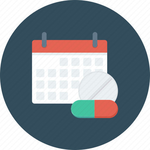 calendar, date, drug, event, medical, schedule icon