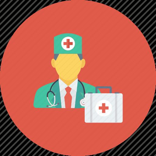 doctor, medical, medical kit, medicine, nurse, physician icon icon