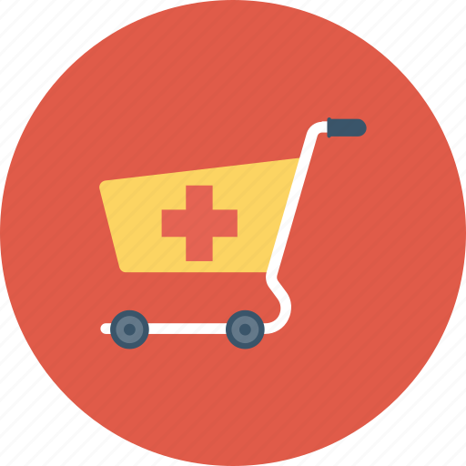 cart, medical, medical cart, pharmacy supplies icon icon
