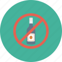 no alcohol, no wine, wine not allowed, wine prohibition, wine restriction icon icon