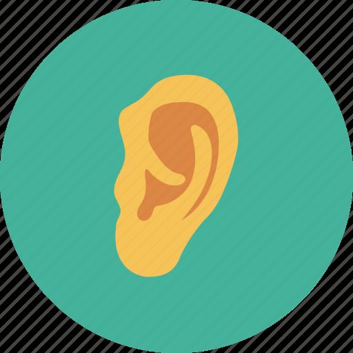 ear, human ear, listen, medical, sound icon