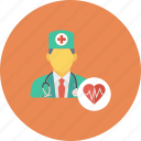 doctor, healthcare, heart specialist, medical, physician icon icon