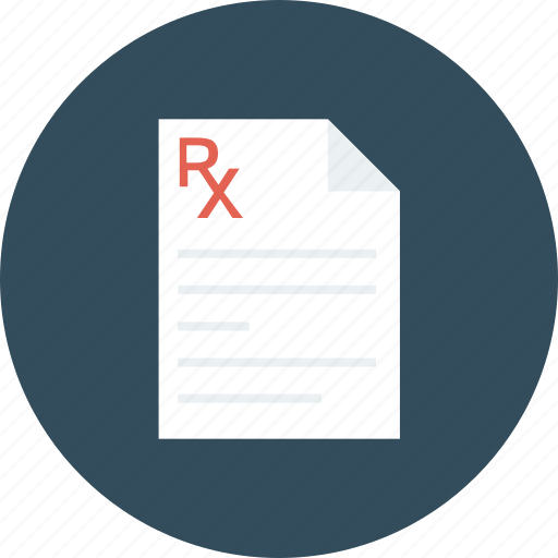 medical, medication, pharmaceutical, pharmacy, prescription, receipt, rx icon icon