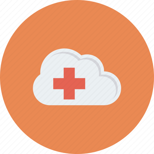 cloud, data, health, healthcare, hospital, medical, storage icon icon