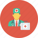 doctor, medical, medical kit, medicine, nurse, physician icon icon