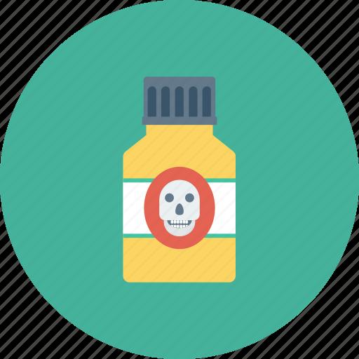 crossbone, danger, death, pirate, poison, skeleton, skull icon icon