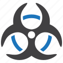 biohazard, biological, danger, hazard, hazardous, health risk icon