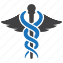 caduceus, health, health care, healthcare, medical, snake icon