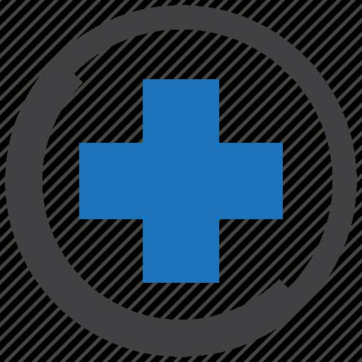 cross, health, health care, healthcare, hospital, medical, sign icon