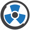 nuclear, radiation, radioactive, radioactivity, sign icon