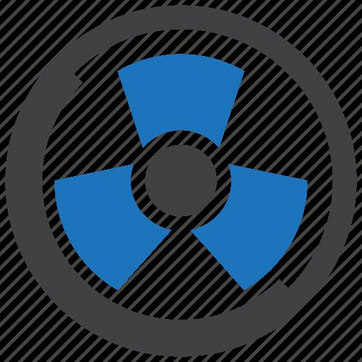 nuclear, radiation, radioactive, radioactivity, sign icon