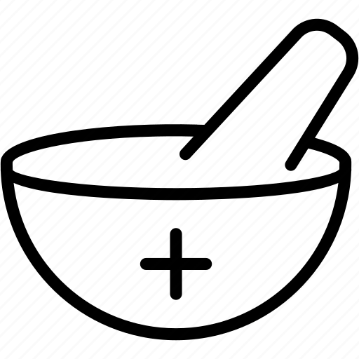 bowl, healthcare, medical, medicine, mortar, pestle, pharmacy icon