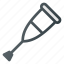 crutch, hold, stick icon
