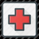 hospital, mark, sigh icon